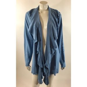 Karen Scott Womens Plus Size 2X Ruffle Cardigan